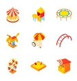 Children games icons set cartoon style vector image vector image