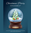 christmas poster transparent crystallizing magic vector image vector image