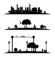 city and nature vector image vector image
