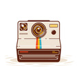 Classic Instant Camera vector image vector image
