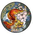 colorful siamese fighting fish or betta fish swimm vector image vector image