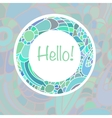 Cute card template in blue colors Stylish vector image vector image