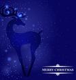 deer blue back vector image vector image