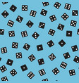 dice pattern seamless background vector image vector image