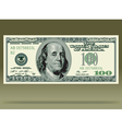 Dollar bank note vector image vector image
