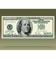 Dollar bank note vector image