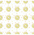 donut pattern on white background vector image vector image
