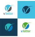 elegant v letter icon and logo vector image vector image