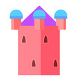 fairy pink tower icon cartoon style vector image