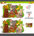 find differences with dogs animal characters vector image vector image