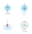 fishing gear logo set vector image vector image
