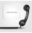 Handset With Speach Bubble vector image