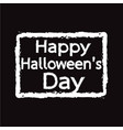 happy halloween day design vector image
