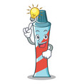 have an idea toothpaste character cartoon style vector image