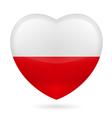 Heart icon of Poland vector image vector image