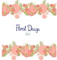 Horisontal floral border vector image vector image