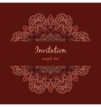 invitation with floral ornament vector image