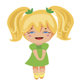 kawaii blonde princess vector image vector image