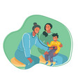 kids examination a pediatrician with mother vector image vector image
