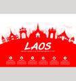 laos Travel Landmarks vector image vector image