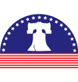 liberty bell flag vector image vector image