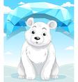 Little polar bear sitting on ice vector image vector image