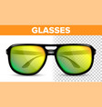 man male glasses hipster frame cool vector image vector image