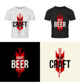 modern craft beer drink isolated logo vector image vector image