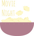 Movie Night vector image vector image