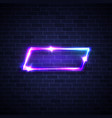 neon square abstract vibrant glow electric frame vector image vector image