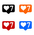 new seven like icons set vector image vector image