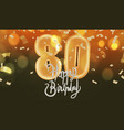 number 80th anniversary birthday balloon isolated