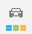 of kin symbol on car outline vector image vector image