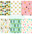 party celebration seamless patterns vector image vector image