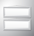 Picture Frames White Horizontal vector image vector image