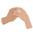 proposal agreement touching moment vector image vector image