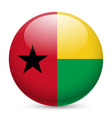 Round glossy icon of guinea-bissau vector image vector image