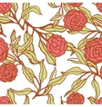 seamless floral pattern with lily flowers vector image vector image