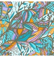 Seamless hand-drawn pattern with leaves vector image