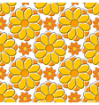 Seamless texture with yellow camomile vector image vector image