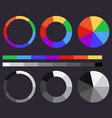 set of color gradients color circle vector image vector image
