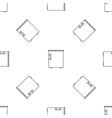 small fridge pattern seamless vector image vector image