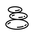 spa stones salon line icon wellness vector image