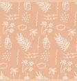 sunner beach seamless pattern beautiful summer vector image