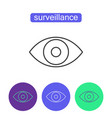surveillance system outline icons set vector image vector image