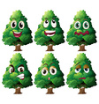 Tree expression vector image vector image