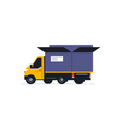 truck for online home delivery service transport vector image