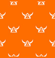 viking helmet pattern orange vector image vector image