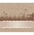 vintage background with grass vector image vector image