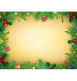 Vintage Christmas and New Year Frame vector image vector image